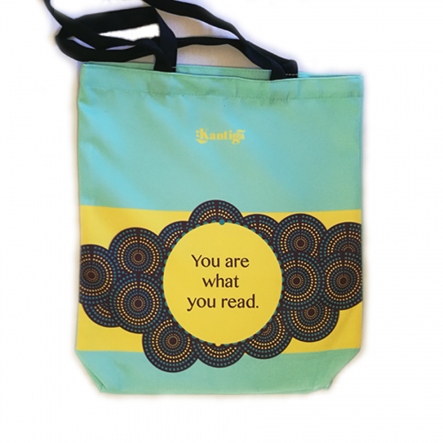 You are what you read, blue Kantiga bag